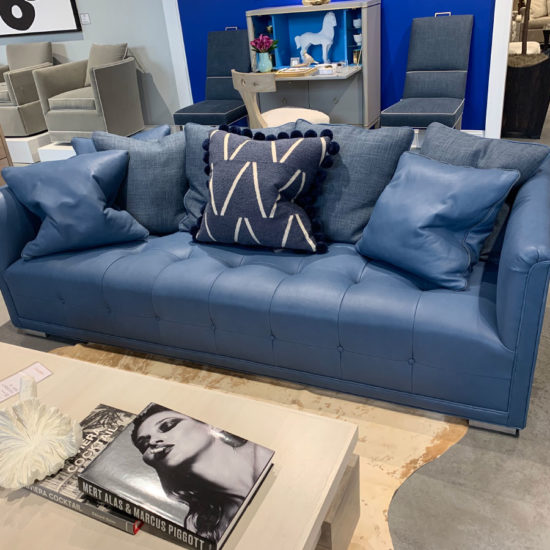 Chaddock Network Sofa in Blue Leather
